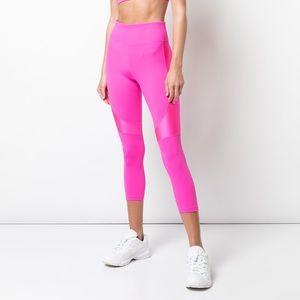 Alala Yoga Hot Pink Cropped Vamp Tight